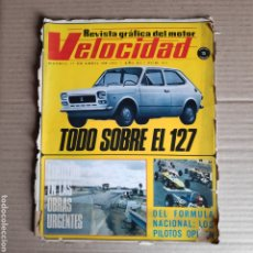 Coches: NT VELOCIDAD 501 1971 TODO SOBRE EL SEAT 127 CORNICHE VIASA JEEP COMMANDO ALFA ROMEO RENAULT ALPINE. Lote 245380475