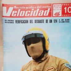 Coches: VELOCIDAD Nº 430 (6 DE DICIEMBRE DE 1969) - SEAT 124 - SEAT 1800 DIESEL - CAÑELLAS - BAGRATION. Lote 245476410