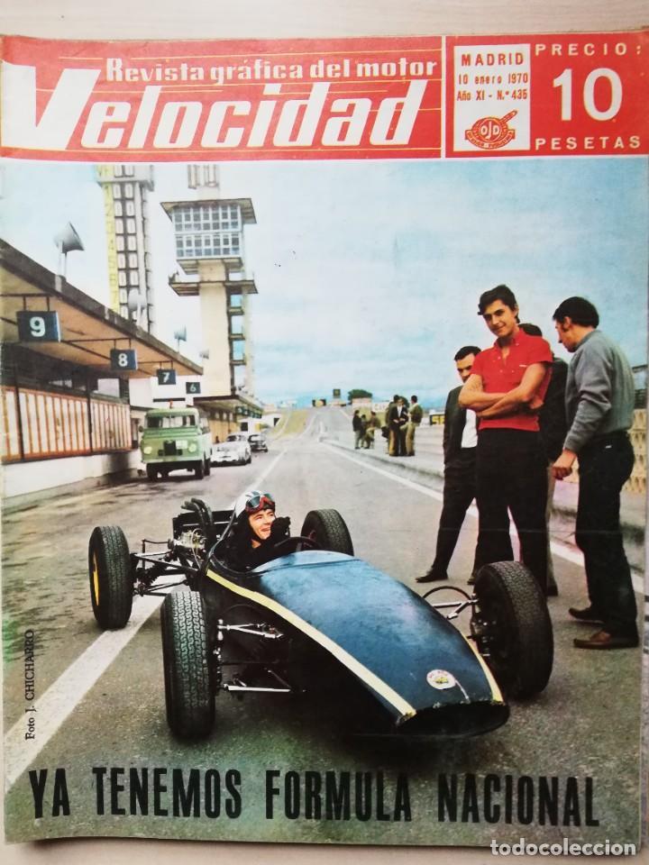 VELOCIDAD Nº 435 (10 DE ENERO DE 1970) - FÓRMULA NACIONAL - ALFA ROMEO - CÁDIZ (Coches y Motocicletas Antiguas y Clásicas - Revistas de Coches)