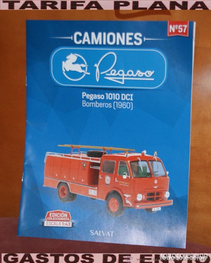 FASCICULO N 57 PEGASO 1010 DCI BOMBEROS 1960 DE LA COLECCION PEGASO DE SALVAT (Coches y Motocicletas Antiguas y Clásicas - Revistas de Coches)