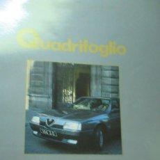 Coches: + QUADRIFOGLIO REVISTA ALFA ROMEO NUMERO 8 AÑO 1988. Lote 246020110