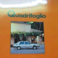 Coches: + QUADRIFOGLIO REVISTA ALFA ROMEO NUMERO 10AÑO 1989. Lote 246020190