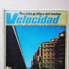 Coches: VELOCIDAD Nº 465 (8 DE AGOSTO DE 1970) - CICLOMOTOR PEUGEOT - HISPANO SUIZA. Lote 246311530