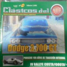 Carros: REVISTA CLÁSICOS DEL MOTOR Nº 19 FEBRERO 2002 DODGE 3700 GT. Lote 203922680
