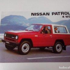 Carros: CATALOGO NISSAN PATROL 4 WD AÑO 1983. Lote 251906230