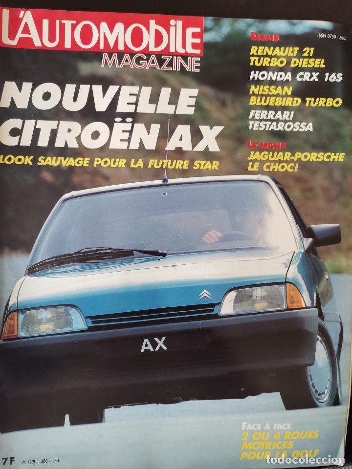 1986 REVISTA L`AUTOMOBILE - LE MANS JAGUAR - PORSCHE - FERRARI TESTAROSSA - NISSAN BLUEBIRD (Coches y Motocicletas Antiguas y Clásicas - Revistas de Coches)