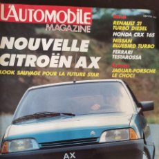 Carros: 1986 REVISTA L`AUTOMOBILE - LE MANS JAGUAR - PORSCHE - FERRARI TESTAROSSA - NISSAN BLUEBIRD. Lote 252674870
