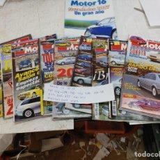 Coches: LOTE 10 REVISTAS MOTOR 16 AÑOS 1998 A 2000 Nº 777-778-779-780-783-854-876-882 Y NOVEDADES 2007. Lote 253363150