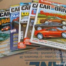 Coches: LOTE 5 REVISTAS DE AUTOMOVILES CAR AND DRIVER Nº 59-102-105-115-123 AÑOS 2000-04-05. Lote 253365545