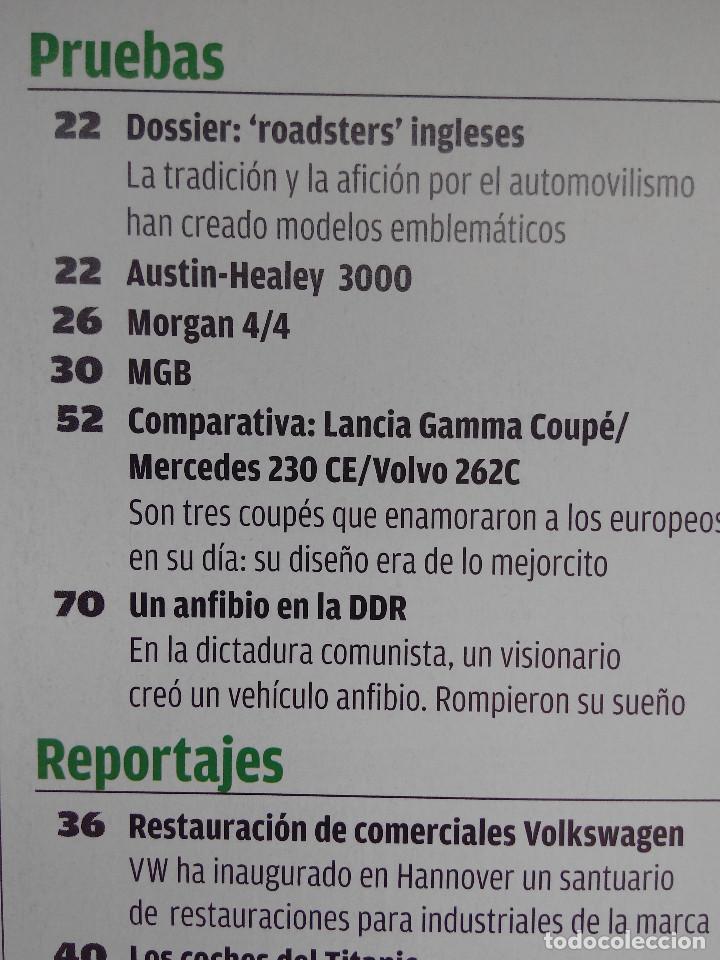 Coches: AUTO BILD CLASIC Nº 15 - ALFA 6C - MORGAN 4/4 - LANCIA GAMMA COUPE - VOLVO 262C - MB 230 CE - Foto 2 - 253436945