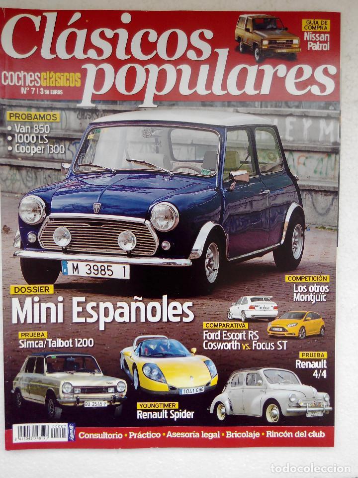 CLASICOS POPULARES Nº 7 -FOTO SUMARIO-ESCORT RS COSWORTH VS FOCUS ST - RENAULT 4/4 - SIMCA 1200 (Coches y Motocicletas Antiguas y Clásicas - Revistas de Coches)