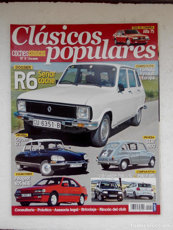 Coches: CLASICOS POPULARES Nº 9 -FOTO SUMARIO- RENAULT 6 - SEAT 800 - CITROEN DS - POLO G40 - Foto 1 - 253438005