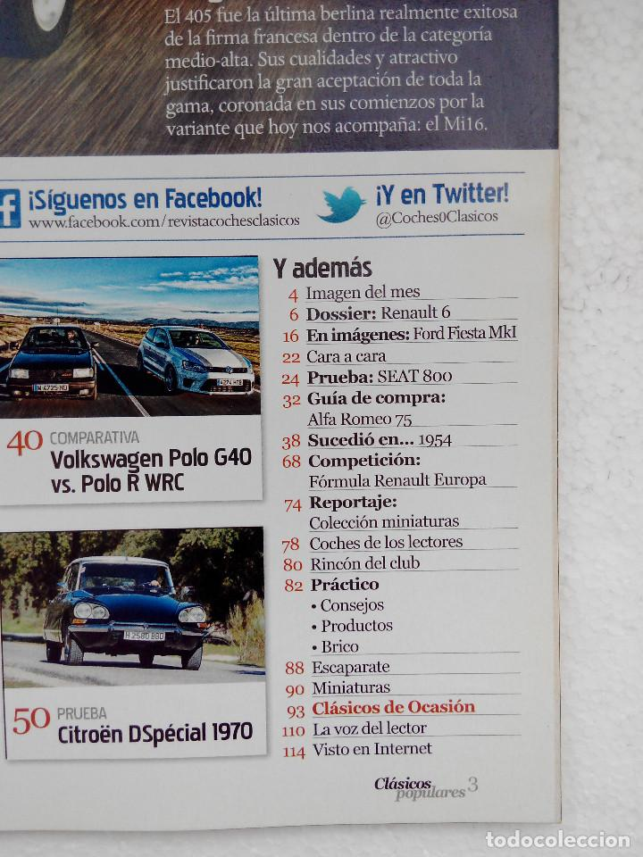 Coches: CLASICOS POPULARES Nº 9 -FOTO SUMARIO- RENAULT 6 - SEAT 800 - CITROEN DS - POLO G40 - Foto 2 - 253438005