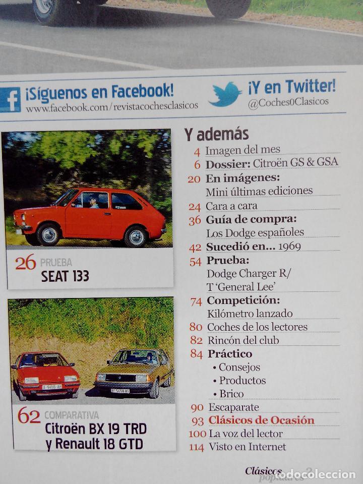 Coches: CLASICOS POPULARES Nº 6 -FOTO SUMARIO- SEAT 133 - DODGE CHARGER GENERAL LEE - CITROEN GS Y GSA - Foto 3 - 253438705
