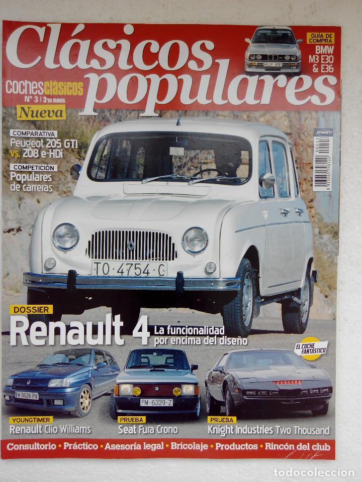 CLASICOS POPULARES Nº 3 -FOTO SUMARIO- CLIO WILLIAMS - SEAT FURA CRONO - RENAULT 4 - 205 GTI (Coches y Motocicletas Antiguas y Clásicas - Revistas de Coches)