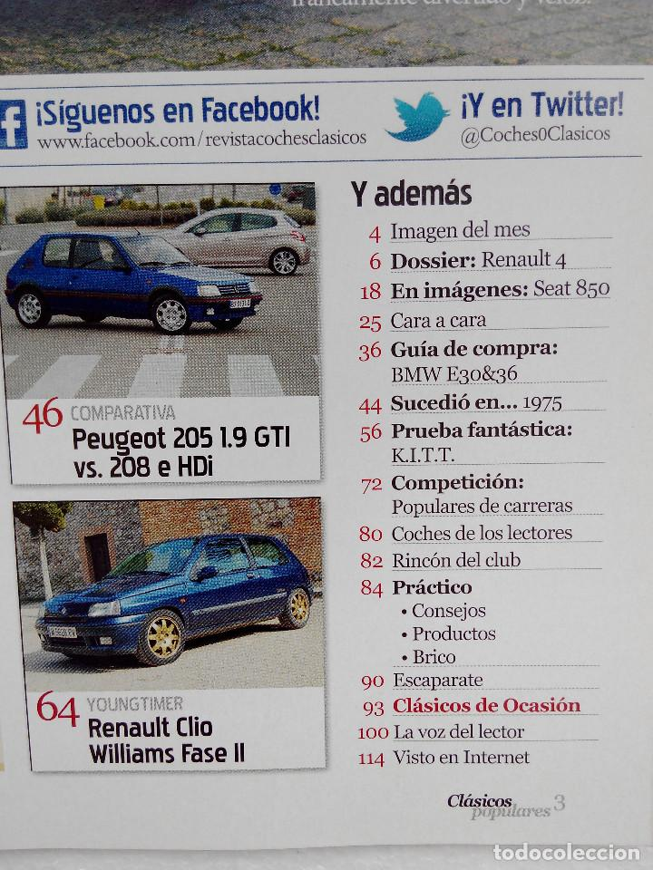 Coches: CLASICOS POPULARES Nº 3 -FOTO SUMARIO- CLIO WILLIAMS - SEAT FURA CRONO - RENAULT 4 - 205 GTI - Foto 3 - 253441510
