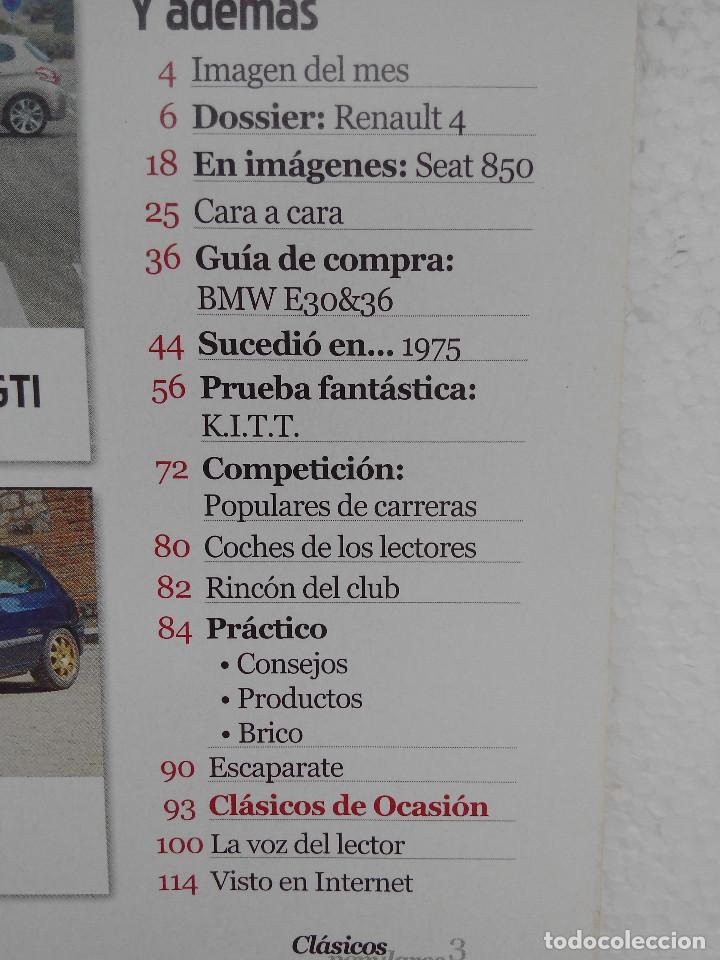 Coches: CLASICOS POPULARES Nº 3 -FOTO SUMARIO- CLIO WILLIAMS - SEAT FURA CRONO - RENAULT 4 - 205 GTI - Foto 4 - 253441510