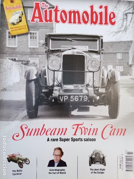 2012 REVISTA THE AUTOMOBILE - THE ROLLO CYCLECAR - SUNBEAM TWIN CAM SPORTS SALOON (Coches y Motocicletas Antiguas y Clásicas - Revistas de Coches)