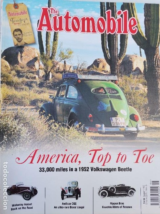 Coches: 2012 REVISTA THE AUTOMOBILE - 1952 VOLKSWAGEN BEETLE - WOLSELEY HORNET - AMILCAR CGS - Foto 1 - 253550420