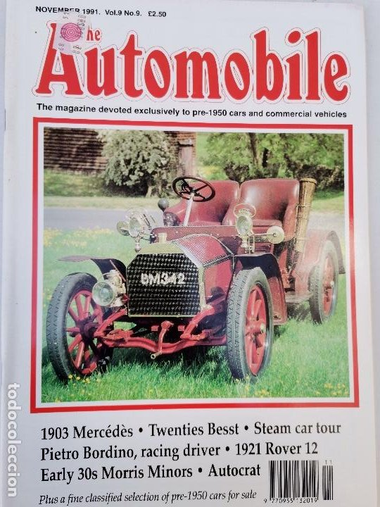 Coches: 1991 REVISTA THE AUTOMOBILE - 1903 MERCEDES - 1921 ROVER 12 - 1930`S MORRIS MINOR - Foto 1 - 253551600