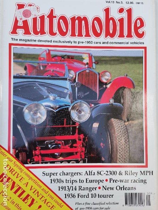 1991 REVISTA THE AUTOMOBILE - 1936 BENTLEY 4 1/4 - TURCAT MÉRY HISTORY - 1926 AMILCAR - 1927 AC (Coches y Motocicletas Antiguas y Clásicas - Revistas de Coches)