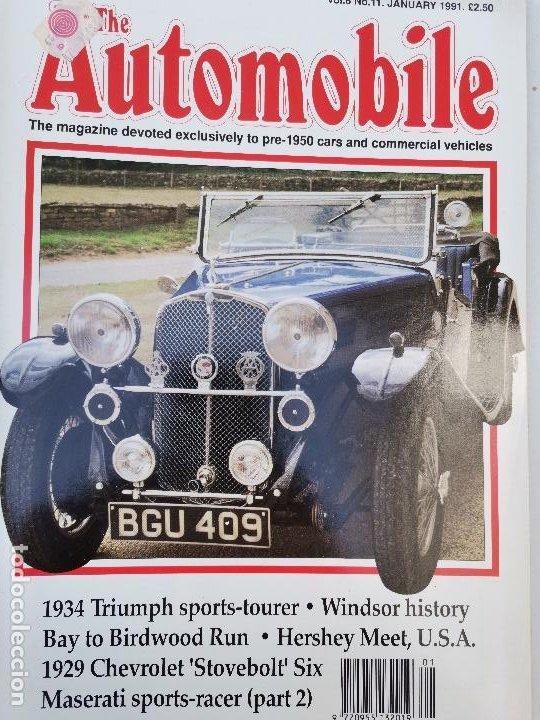 1991 REVISTA THE AUTOMOBILE - 1934 TRIUMPH SPORTS-TOURER - 1929 CHEVROLET STOVEBOLT SIX (Coches y Motocicletas Antiguas y Clásicas - Revistas de Coches)