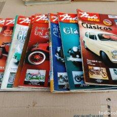 Carros: LOTE 8 REVISTAS AUTOMOVILES CLASICOS AUTO FOTO AÑO 2007 Nº 125-126-127-128-129-130-131-132. Lote 253575335