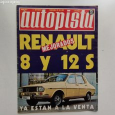 Coches: AUTOPISTA Nº 657 / 11 DE SEPTIEMBRE DE 1971 / RENAULT 8 Y 12 S. Lote 253802060