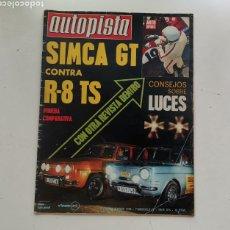 Coches: AUTOPISTA Nº 615 / 21-28 DE NOVIEMBRE DE 1970 / SIMCA GT CONTRA R-8 TS. Lote 253812505