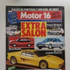 Coches: MOTOR 16 Nº 229 / 12 DE MARZO DE 1988 / EXTRA SALON / NISSAN BLUEBIRD / AX CABRIO. Lote 254009315