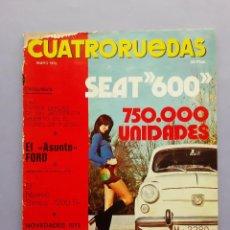 Coches: REVISTA CUATRORUEDAS ENERO 1973 Nº 109 ESPECIAL INFORME SEAT 600 32 PAGINAS SOBRE EL MITICO COCHE. Lote 254085500