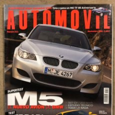 Coches: AUTOMÓVIL N° 322 (2004). BMW M5, FERRARI F430, AUDI A6 V8 4.2 QUATTRO, LAND ROVER DISCOVERY V8. Lote 254565695
