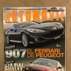 Coches: AUTOMÓVIL N° 328 (2005). PEUGEOT 907, PORSCHE 911 CARRERA, RANE ROVER SPORT V8 SUPERCHARGED. Lote 254566785