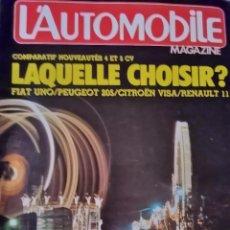 Coches: 1983 REVISTA L`AUTOMOBILE - FIAT UNO - PEUGEOT 205 - CITROEN VISA - RENAULT 11- RANGE ROVER. Lote 254575045