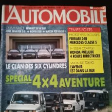 Coches: 1987 REVISTA L`AUTOMOBILE - SPECIAL 4 X 4 - TOYOTA - MITSUBISHI - NISSAN - LAND ROVER - FERRARI 348. Lote 254578410
