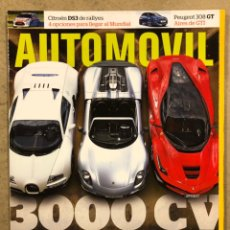 Coches: AUTOMÓVIL N° 442 (2015). BUGATTI VEYRON SPORT, FERRARI LAFERRARI, PORSCHE 918 SPYDER,..,. Lote 254595115