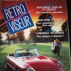 Coches: 1991 REVISTA RETRO VISEUR - DOSSIER ALFA SPIDER - HOTCHKISS 2050 GS VS MEGEVE. Lote 254596695