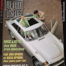 Coches: 1998 REVISTA RETRO VISEUR - MGC Y GT V8 - BUGATTI 57 C - FIAT 850 SPIDER - SIATA SPRING. Lote 254599200