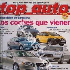 Coches: ANTIGÜA REVISTA -TOP AUTO - NUMERO 212 - JUNIO 2007. Lote 255570005