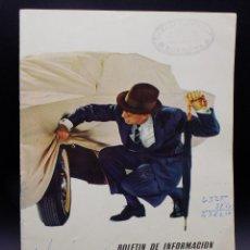 Coches: BOLETIN DE INFORMACION FIRESTONE HISPANIA N.166- AÑO 1961. Lote 255572865