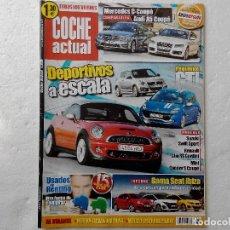Coches: COCHE ACTUAL Nº 1219 AÑO 2011-CLIO SPORT GORDINI 2.0 16V 200CV- SUZUKI SWIFT SPOT-MINI COOPER S COUP. Lote 256071360