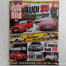 Coches: AUTO BILD Nº 86 AÑO 2007- HYUNDAI I30 1.6 CRDI-FOCUS 2.0 TDCI SPORT-CLIO F1 TEAM R27-VOLVO S40 D5 KI. Lote 257789245