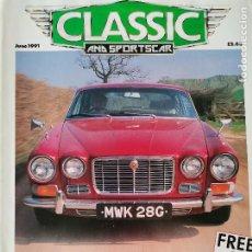 Coches: 1991 REVISTA CLASSIC AND SPORTSCAR - JAGUAR XJ6 - CITROEN DS 1955 - LANCIA APRILIA 1937. Lote 257835810