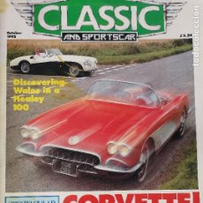 Coches: 1992 REVISTA CLASSIC AND SPORTSCAR - CORVETTE - ALVIS 4.3 - AUSTIN SEVEN - TATRA 613. Lote 257836685