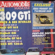 Coches: 1987 REVISTA L`AUTOMOBILE - PEUGEOT 309 GTI - GOLF GTI - KADETT GSI - COROLLA GT - PEUGEOT 205 GTI. Lote 257847535