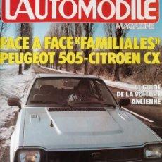 Coches: 1982 REVISTA L`AUTOMOBILE - RENAULT 5T 200CV - FIAT 127 DIESEL - TRIUMPH ACCLAIM - PEUGEOT 505. Lote 257848420