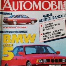 Coches: 1988 REVISTA L`AUTOMOBILE - BMW SERIE 5 - VW PASSAT - RENAULT ESPACE QUADRA. Lote 257866300