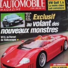 Coches: 1988 REVISTA L`AUTOMOBILE - VOLKSWAGEN V12 - BMW M5 - ALFA 156 - 24 HORAS DE LEMAN GUIA COMPLETO. Lote 257866830
