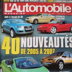 Coches: 2004 REVISTA L`AUTOMOBILE - AUDI - ALFA ROMEO SPIDER - PEUGEOT 207 CABRIOLET. Lote 257867235