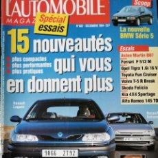 Coches: 1994 REVISTA L`AUTOMOBILE - ASTON MARTIN DB7 - VOLVO T-5R - FERRARI F 512 M - TOYOTA FUN CRUISER. Lote 257867740
